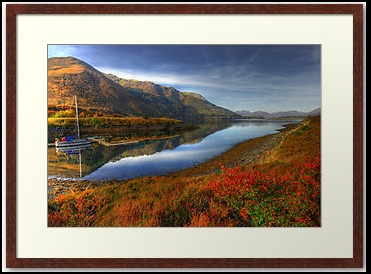 Dawn Light on Loch Leven near Ballachulish near Glencoe in the Highlands of Scotland