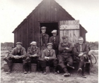 Scottish heritage free photo - River Spey Salmon Netsmen crew and fishing hut. Photo circa 1960's